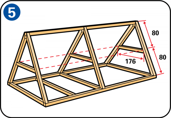plan poulailler triangle