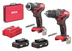 SKIL 2351 EA Perceuse/visseuse sans fil et visseuse à chocs sans fil (kit combiné)