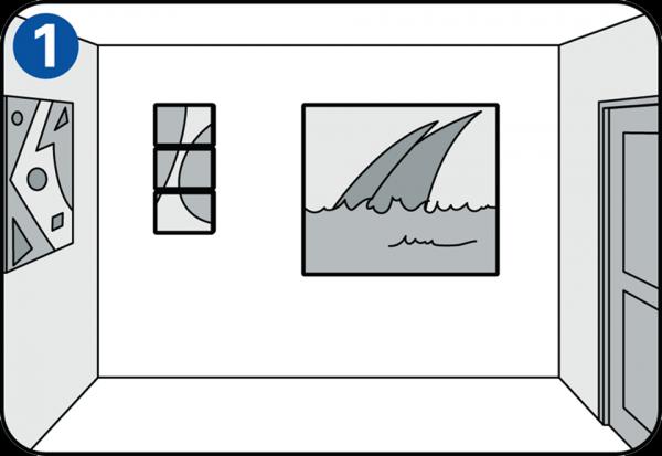 accrocher un tableau avec une perceuse. Black Bedroom Furniture Sets. Home Design Ideas