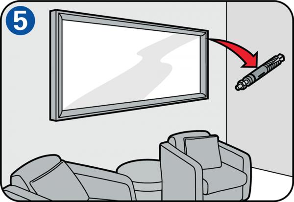 accrocher un miroir avec une perceuse. Black Bedroom Furniture Sets. Home Design Ideas